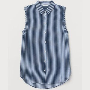 *NWT* H&M Striped Sleeveless Blouse
